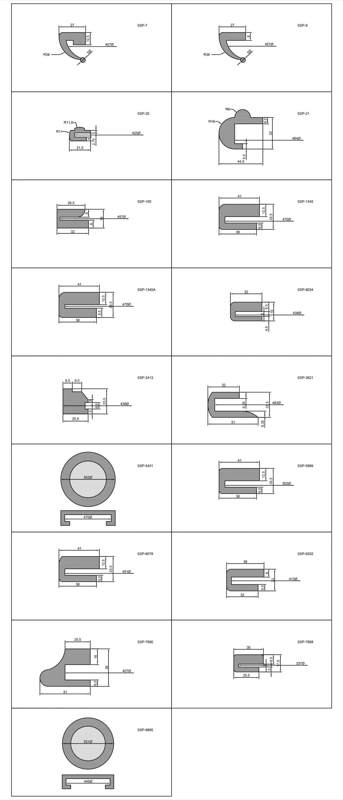 Manway Door Seals and Gasket Profiles